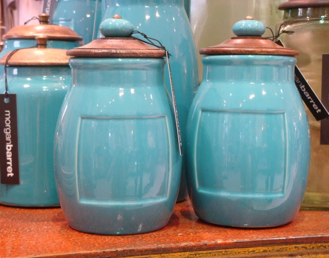 morgan barret turquoise canisters kitchen quirks pinterest