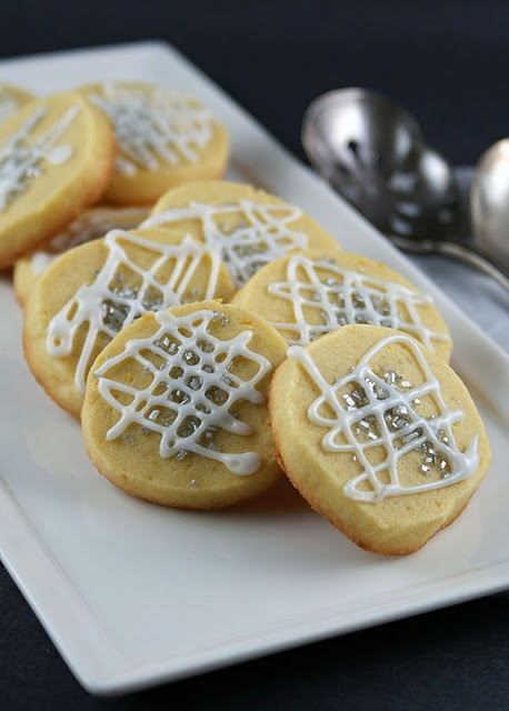Lemon slice-and-bake cookies. It's my goal to make these for Christmas ...