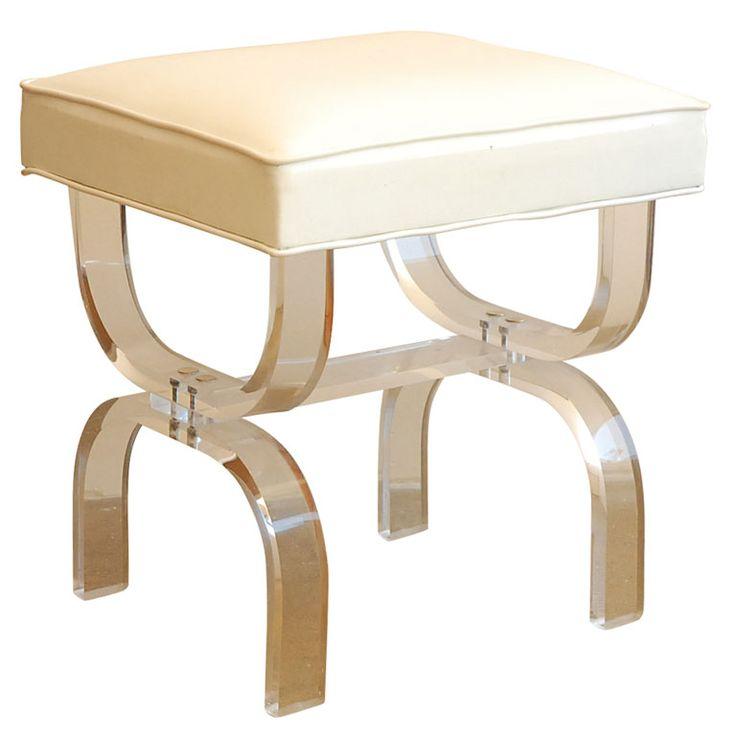 Lucite vanity stool home pinterest