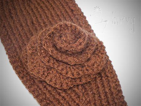 Free Crochet Pattern For Headband Ear Warmer With Flower Traitoro