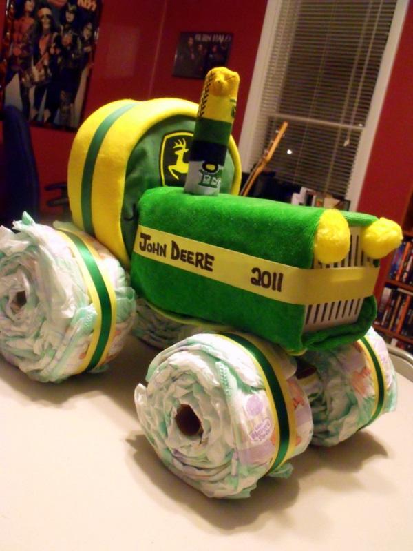 Tractor Diaper Cake Baby D Shower Pinterest