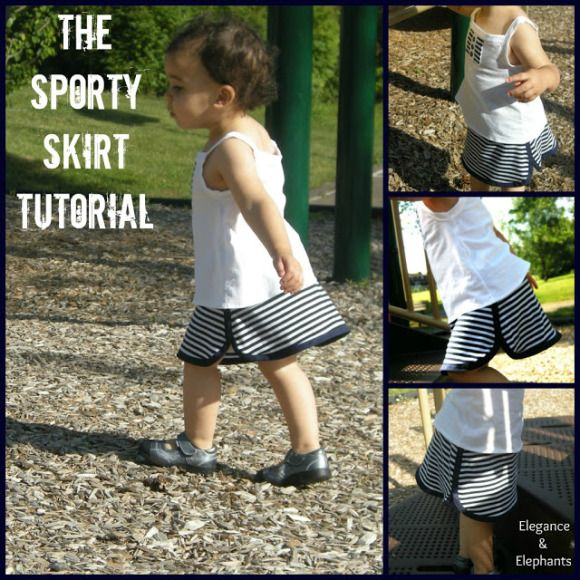 Sporty Skirt Tutorial | Go To Sew