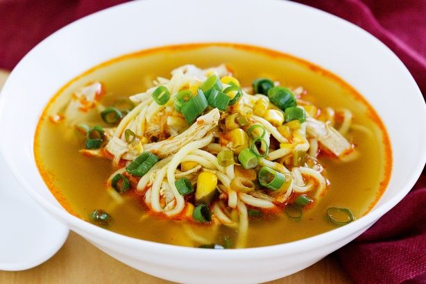 Asian Chicken, corn and noodle soup | Oodles of Noodles | Pinterest