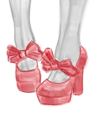 red bow heels and stockings drawing shoes pinterest