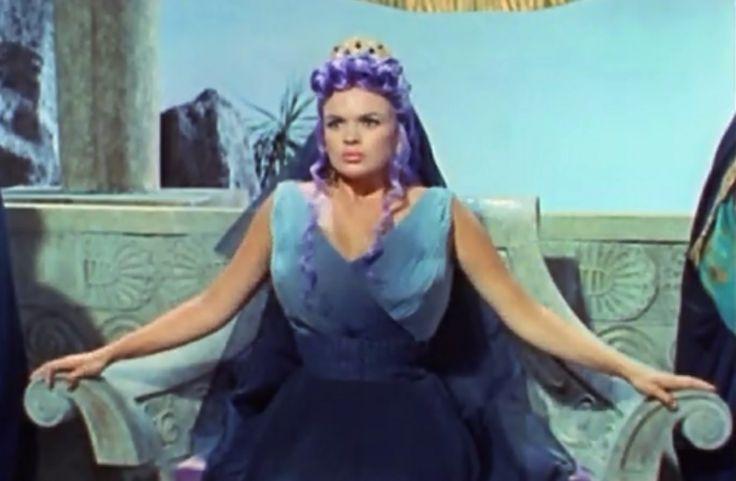 """Jayne Mansfield with purple hair in """"Hercules vs. Hydra"""" Real wig! Not ..."""