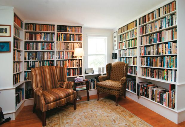 Famous authors and their bookcases.