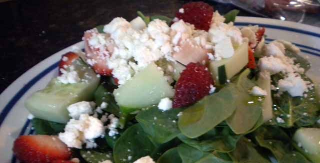Spinach and Feta Salad | Ryan's Paleo Board | Pinterest