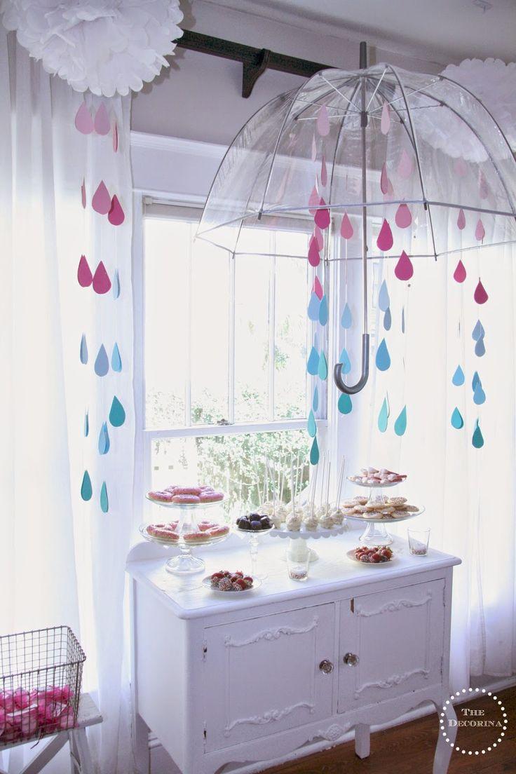 Bridal shower umbrella decoration ideas
