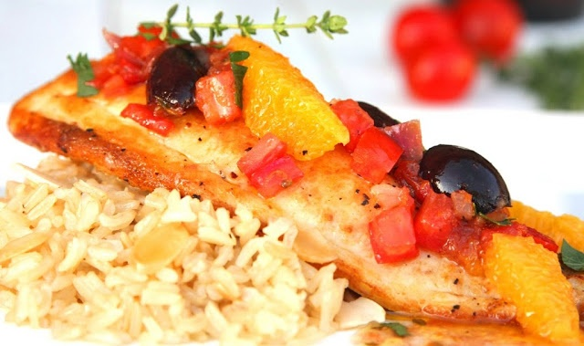 Broiled Tilapia in a Fresh Tomato and Sherry Orange Thyme Sauce - Geez ...