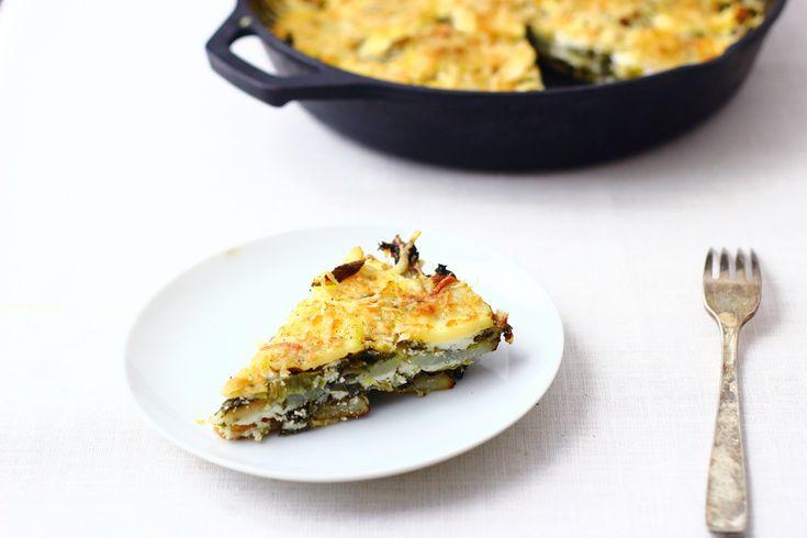 Potato + Kale Skillet Gratin | Breakfast | Pinterest