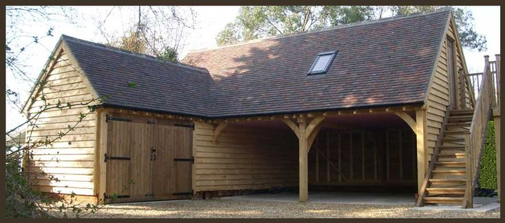 Garage With Shed Attached Cabin Ideas Pinterest