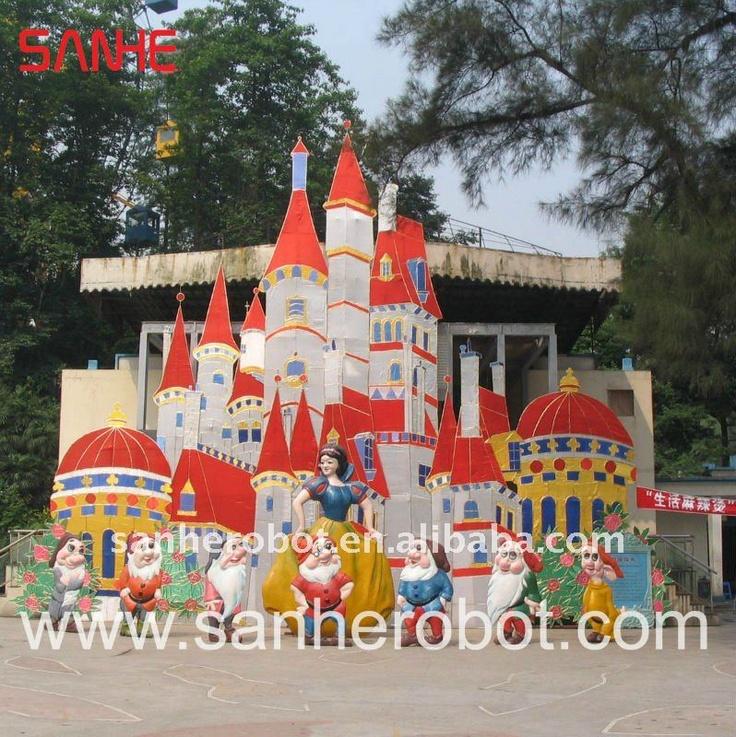 Fairy story theme park outdoor decorations for Amusement park decoration ideas