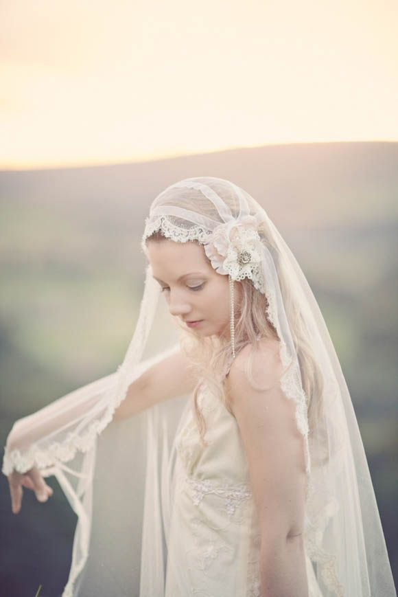 A beautiful vintage inspired wedding veil - Blush by Silver Sixpence In Her Shoe