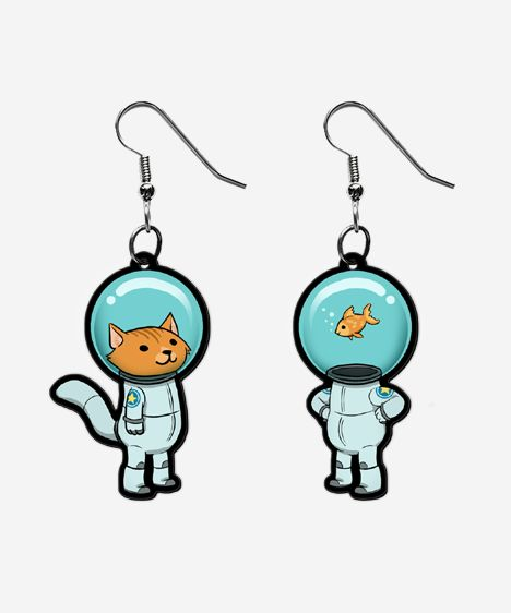 http://www.heychickadee.com/collections/jewelry/products/space-kitty-and-captain-fish-earrings