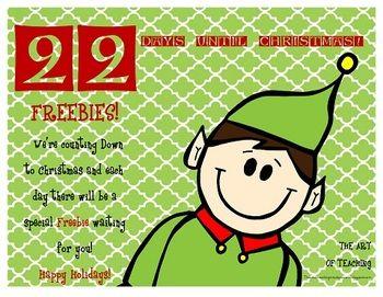 Countdown to Christmas...22 Days   Christmas schooling ideas   Pinter ...