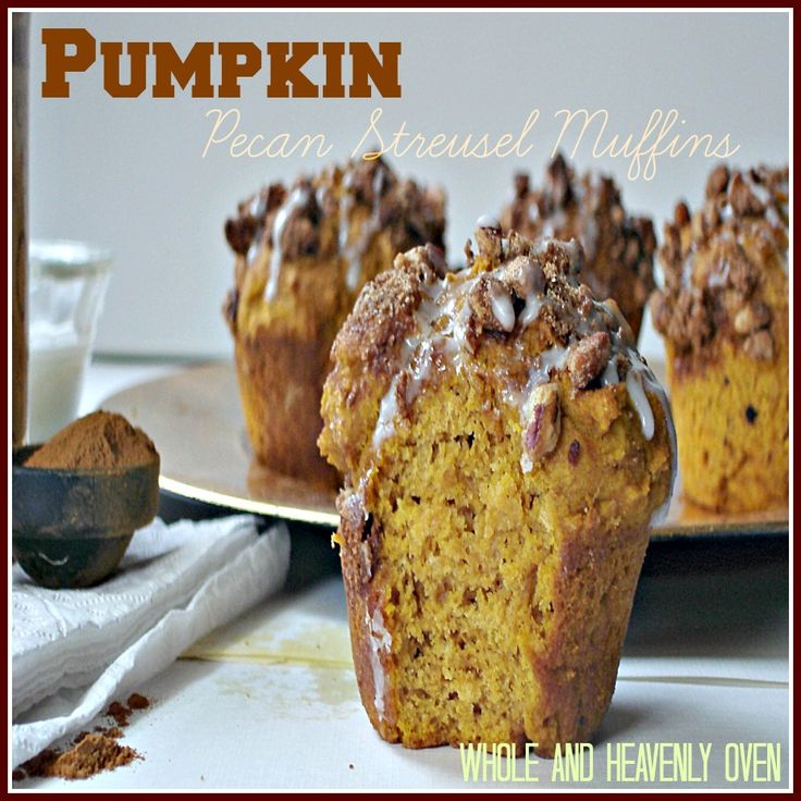 Pumpkin Pecan Streusel Muffins: Moist pumpkin-spice muffins with a ...