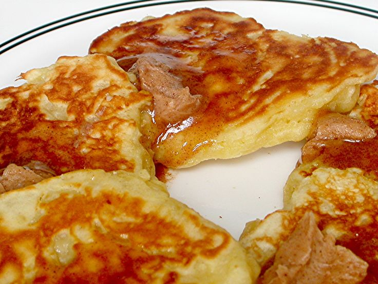 Apple Pancakes with Cinnamon Butter - maybe try with oat or whole ...