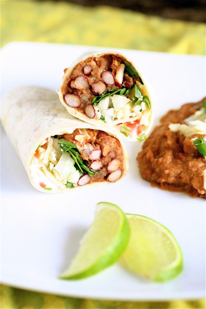 Bean Burritos - as if I need a recipe for this, but the pictures are ...