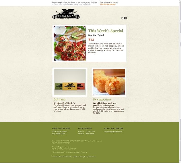 mailchimp.com template | Web Design - newsletter | Pinterest