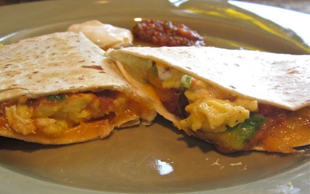 Breakfast Quesadilla | Break Fast! | Pinterest