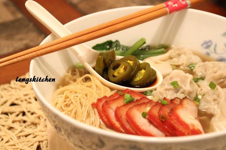 Wonton Noodle Soup 云吞汤面 | Rice and Noodles | Pinterest