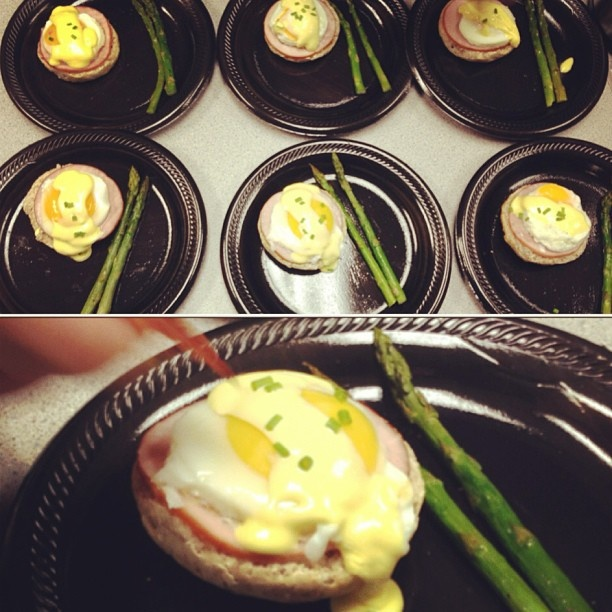 Eggs Benedict and Roasted Asparagus for breakfast...