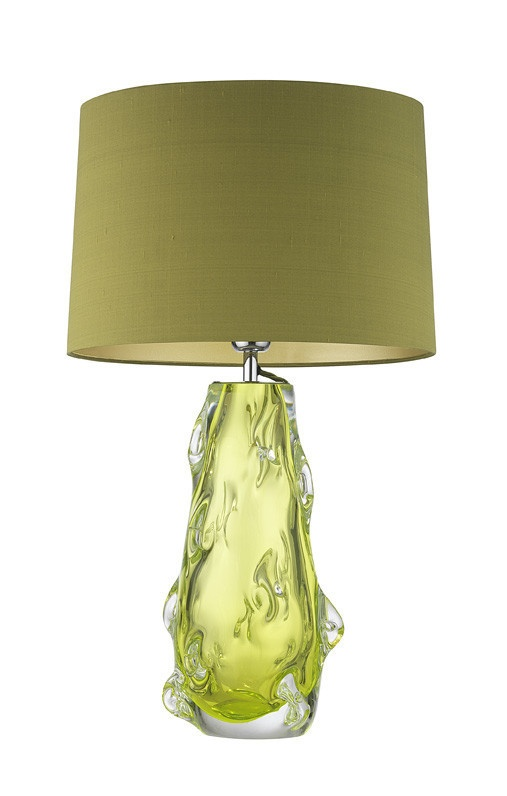 designer lime green art glass table lamp sharing luxury designer home. Black Bedroom Furniture Sets. Home Design Ideas