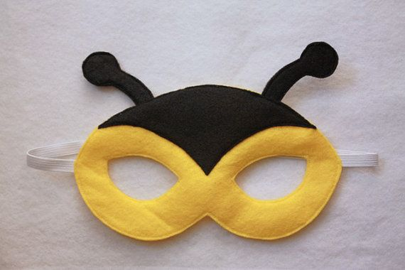 Bee mask child by oppositeoffar on etsy 14 00