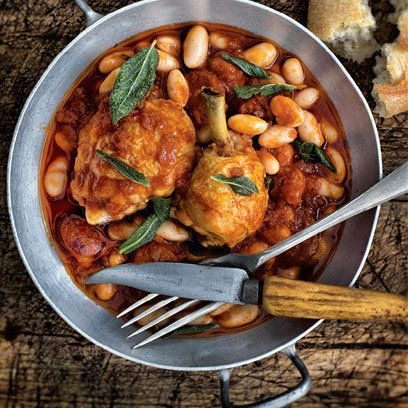 Chicken braised with cannellini beans, tomato and chorizo from 'My ...