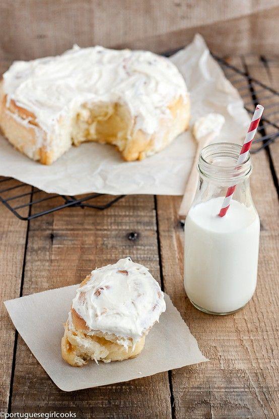 overnight cinnamon rolls   ♡ S w e e t ♡   Pinterest