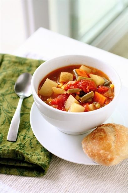 Simple Vegetable Soup | Soups | Pinterest