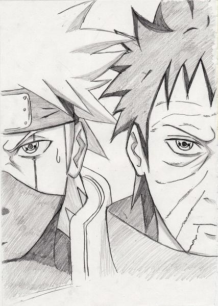 Kakashi. Obito Uchiha. | Naruto ~ Naruto Shippuden | Pinterest