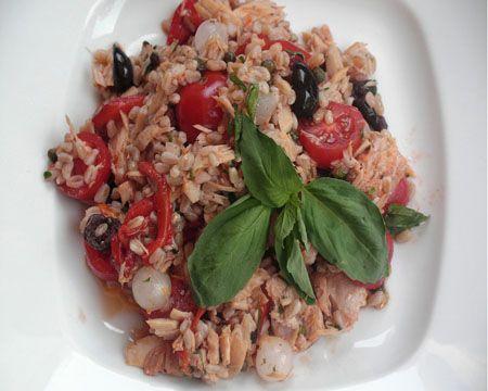 Farro with Tuna and Tomatoes