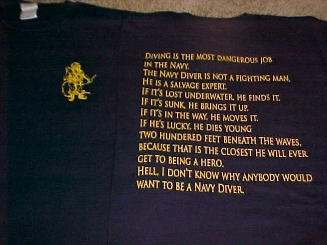 US Navy Diver CreedUdt Navy Seal Diver Creed