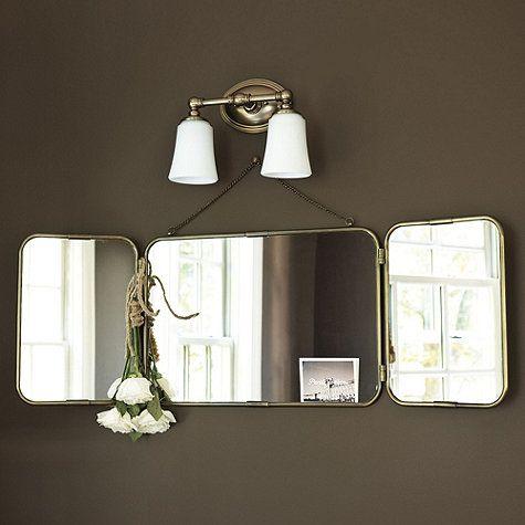 28+ [ tri fold bathroom mirrors ]   tri fold lit wall mirror