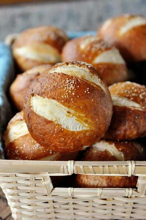 Pretzel rolls// Amazing, but still pretty huge. These are more the ...