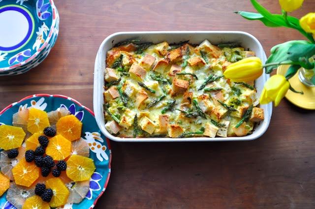 Asparagus & Leek Strata | Taste Bud | Pinterest