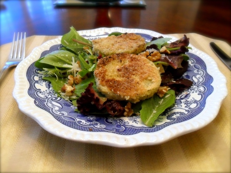 Fried Green Tomato Salad | Deliciousness | Pinterest