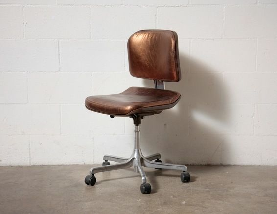 retro rolling office chair office pinterest
