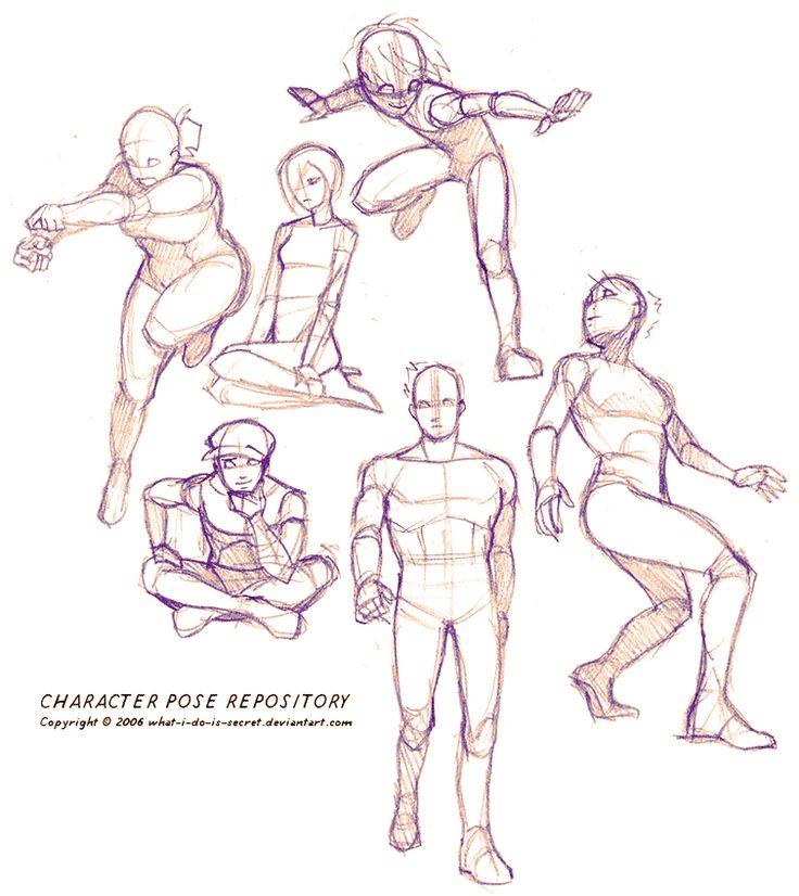 Как нарисовать человека в позах