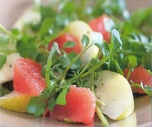Watercress, Pink Grapefruit And Nashi Pear Salad