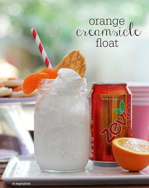 Hi Sugarplum | Orange Creamsicle Float Party by hi sugarplum!, via ...