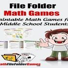 http://www.teacherspayteachers.com/Product/MathFileFolderGames-42-Printable-Math-Games-for-Middle-School-Students Math File Folder Games are specifically designed for students in the 5th-8th grade!!! $12.97 Covering such topics as Shapes and Space Games, Number Opera...