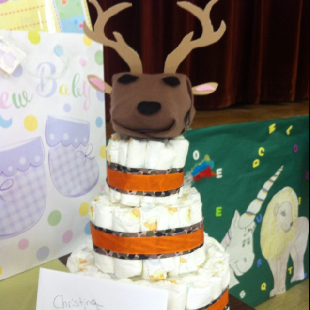 deer head diaper cake baby shower ideas pinterest