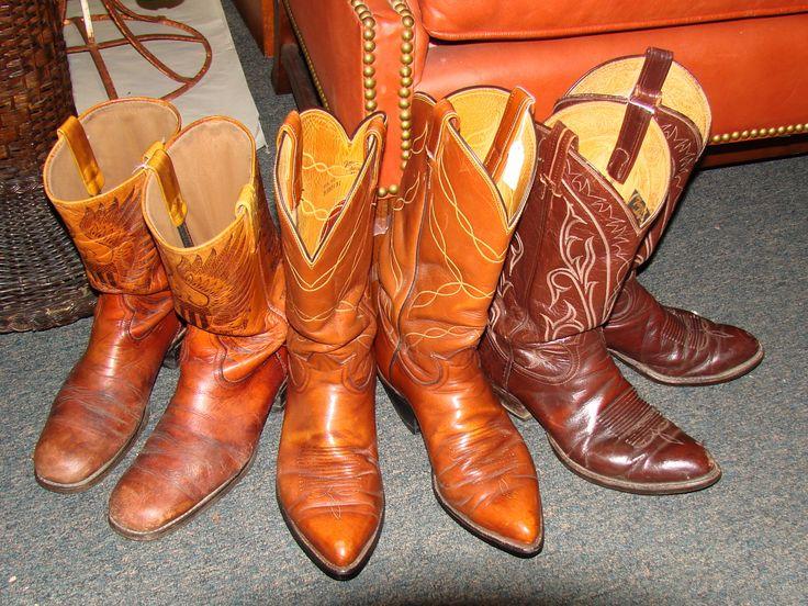 Three pair of nice cowboy boots. | Miss Elaneus