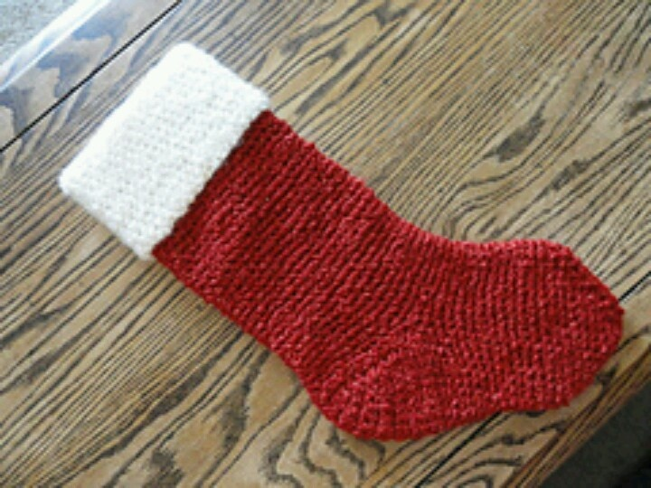 Crochet, bulky yarn, J hook Sock/Stocking Patterns Pinterest