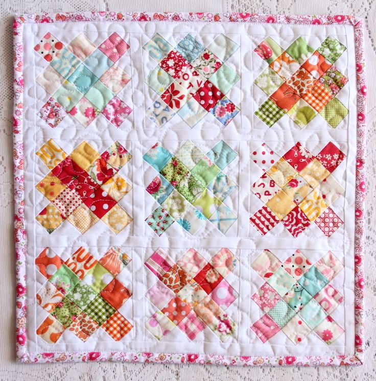"""Oh my! The sweetest one yet!!! 1"""" squares"""