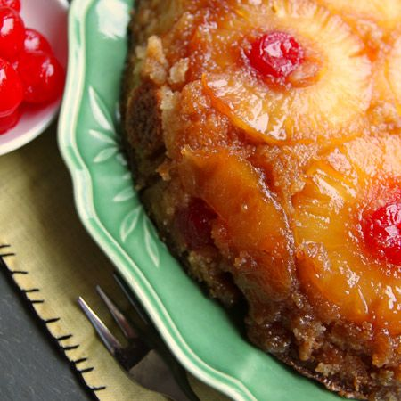 ... Pineapple Upside Down Cake is it: bakes in a skillet with only 8