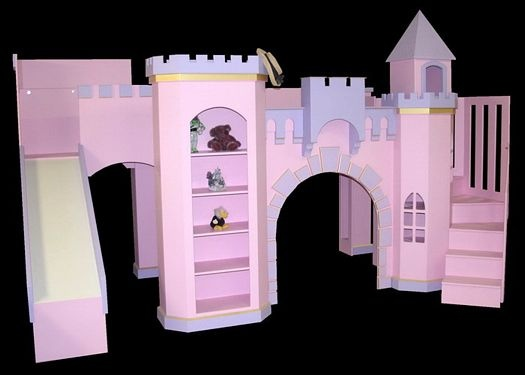 Girl Castle Bunk Beds with Slide
