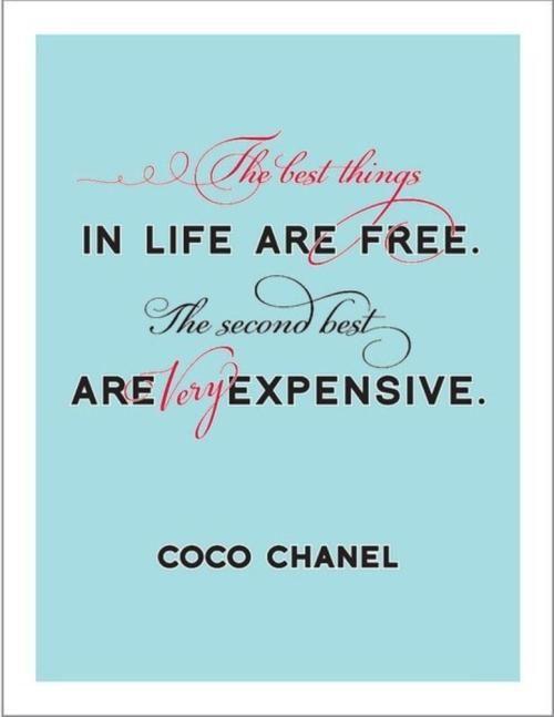 Expensive taste...
